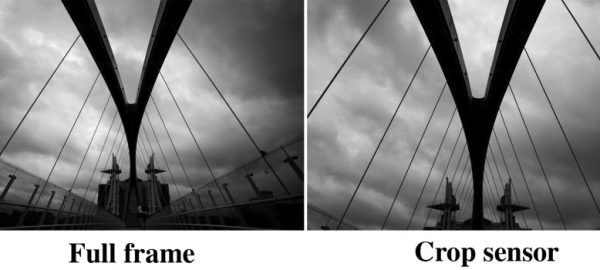 What is the simple difference between full-frame and truck frame cameras?