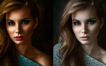 What are the tips for retouching skin in a photoshoot?